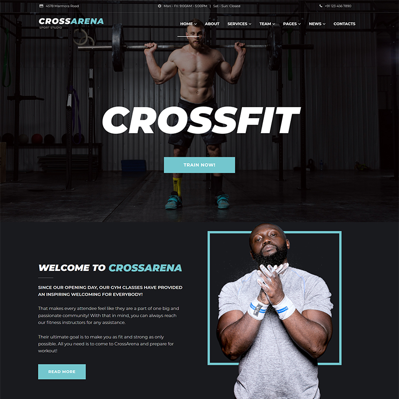 Cross Arena - Crossfit Studio Elementor WordPress Theme