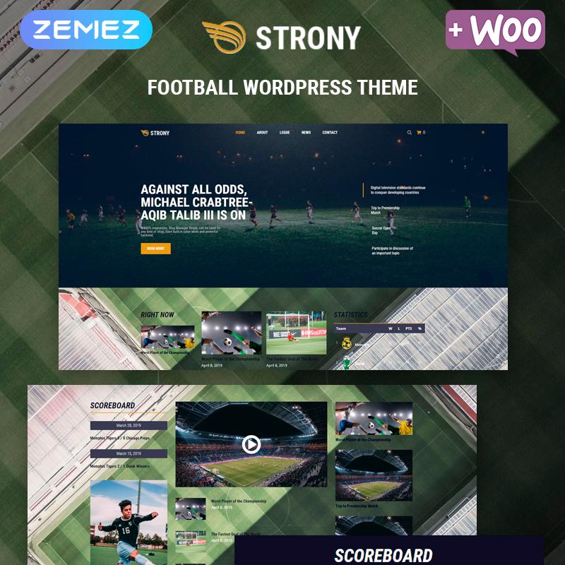 Strony - Sport Classic Elementor WordPress Theme