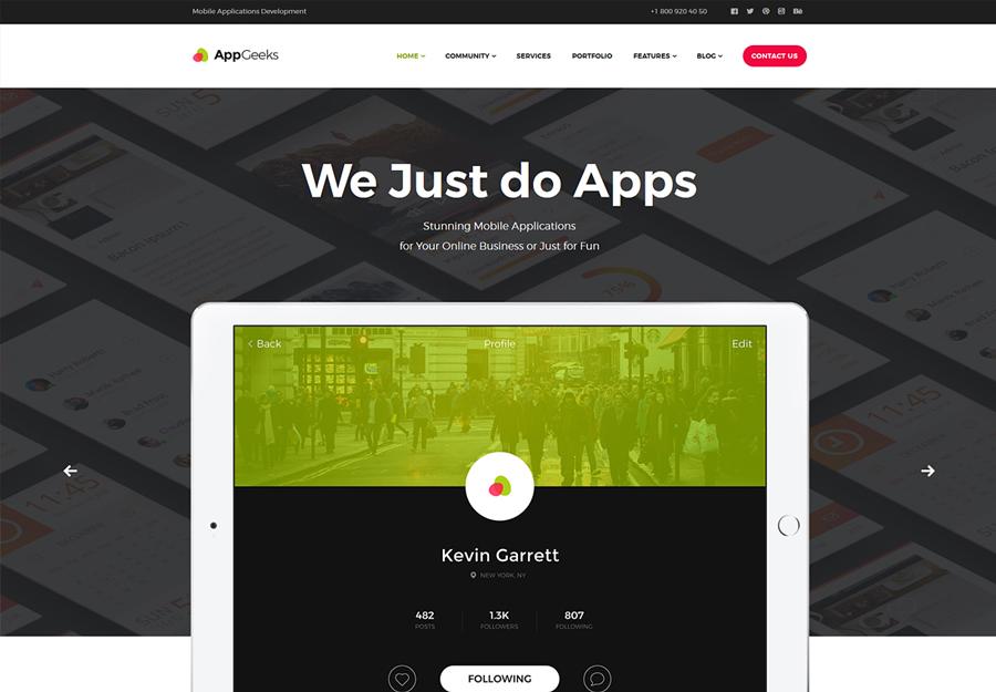 AppGeeks   A Web Studio & Creative Agency WordPress Theme