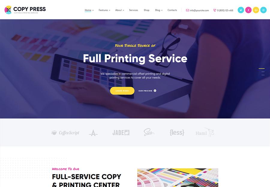 CopyPress   Type Design & Printing Services WordPress Theme