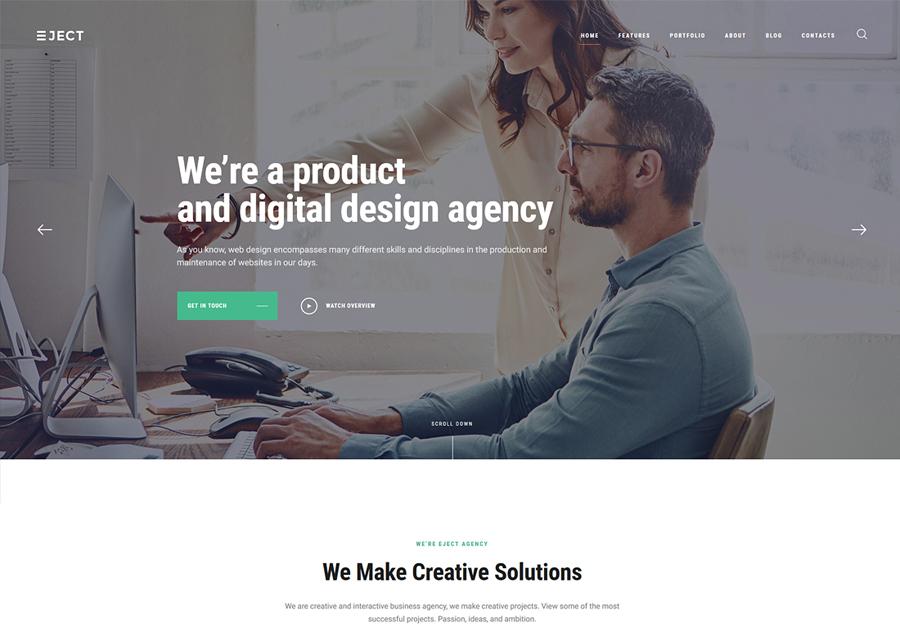 Eject   Web Studio & Creative Agency WordPress Theme
