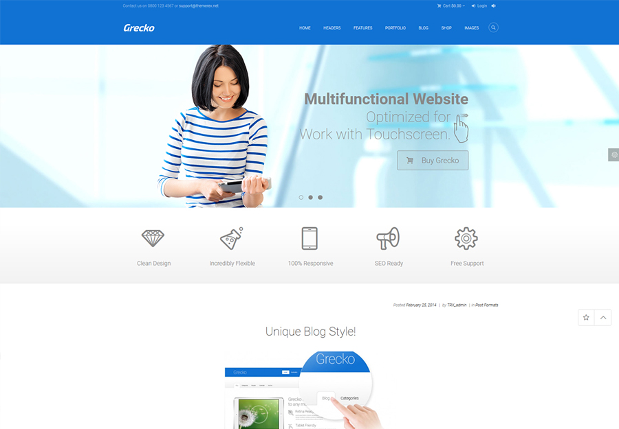 Grecko | A Clean Multipurpose WordPress Theme