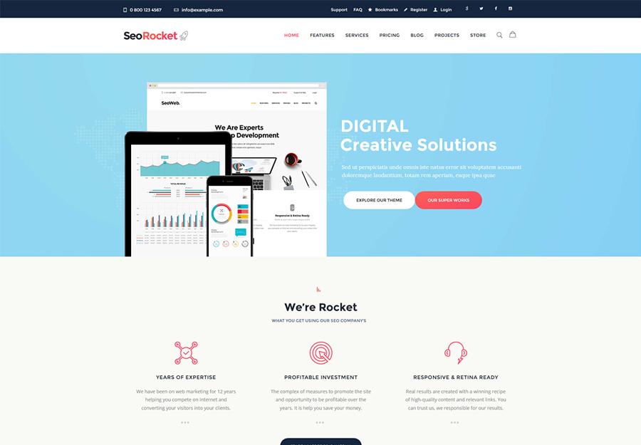 Seo Rocket   SEO & Marketing WordPress Theme