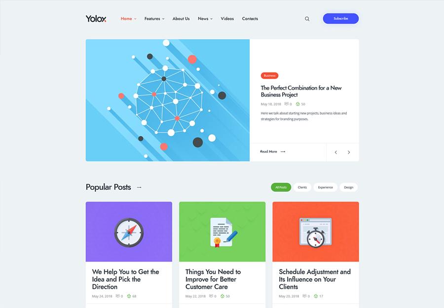 Yolox   Modern WordPress Blog Theme for Business & Startup