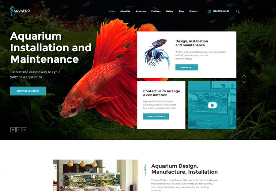 AquaPro | Aquarium Services & Online Store WordPress Theme