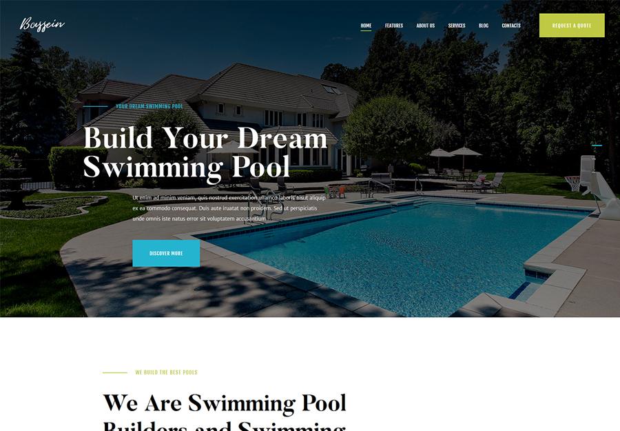 Bassein | Swimming Pool Service WordPress Theme