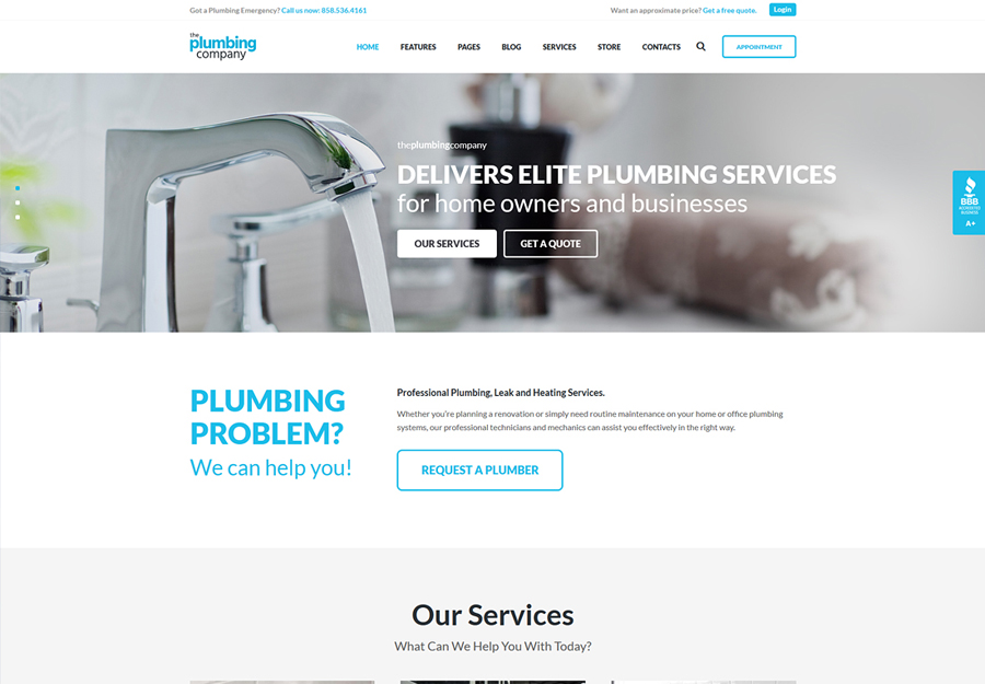 Plumbing - Repair, Building & Construction WordPress Theme
