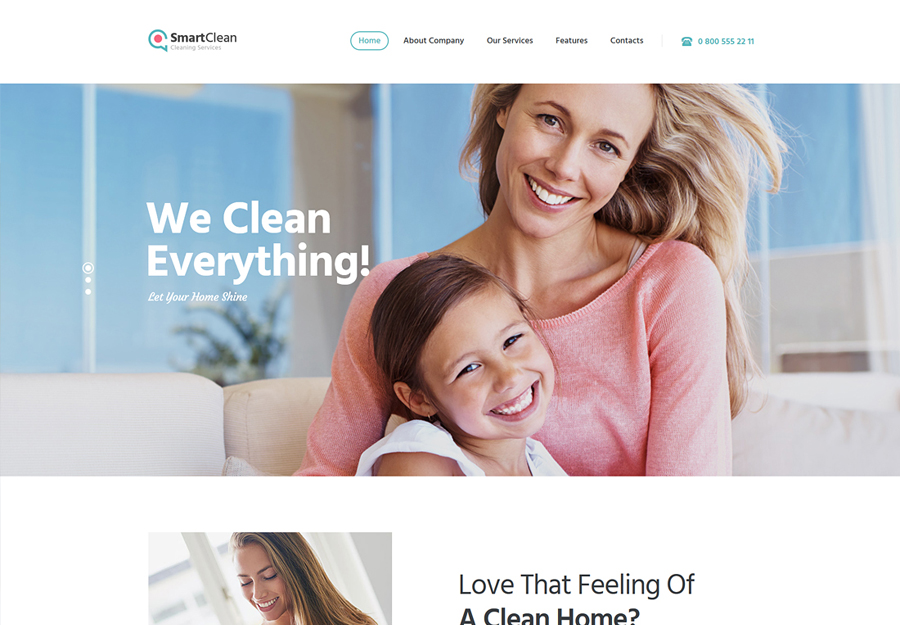 SmartClean | Cleaning Company WordPress Theme