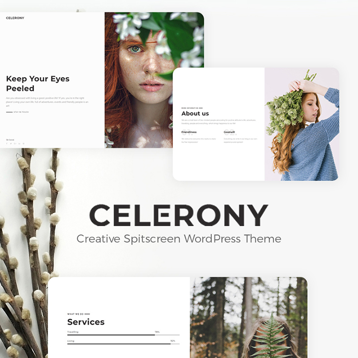 Celerony - Creative Splitscreen Elementor WordPress Theme