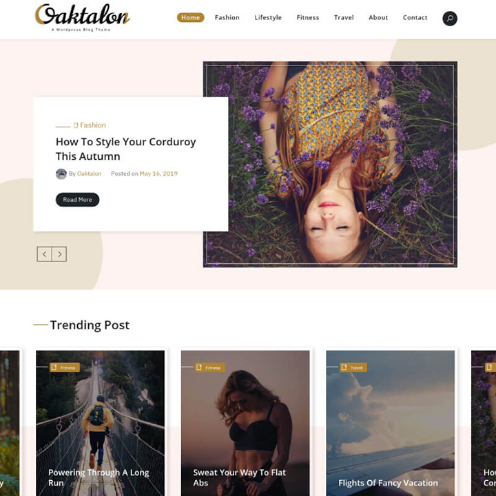 Oaktalon WordPress Theme