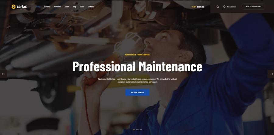 Carlax   Car Parts Store & Auto Service WordPress Theme