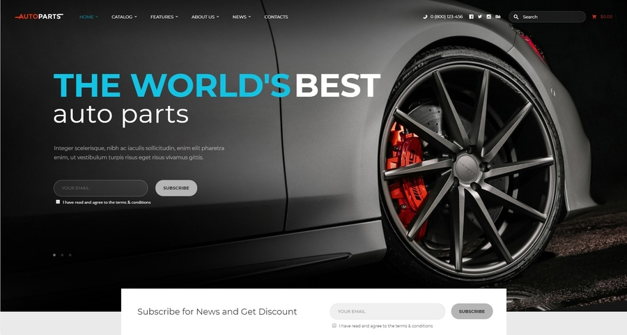 Car Parts Store & Auto Services WordPress Theme