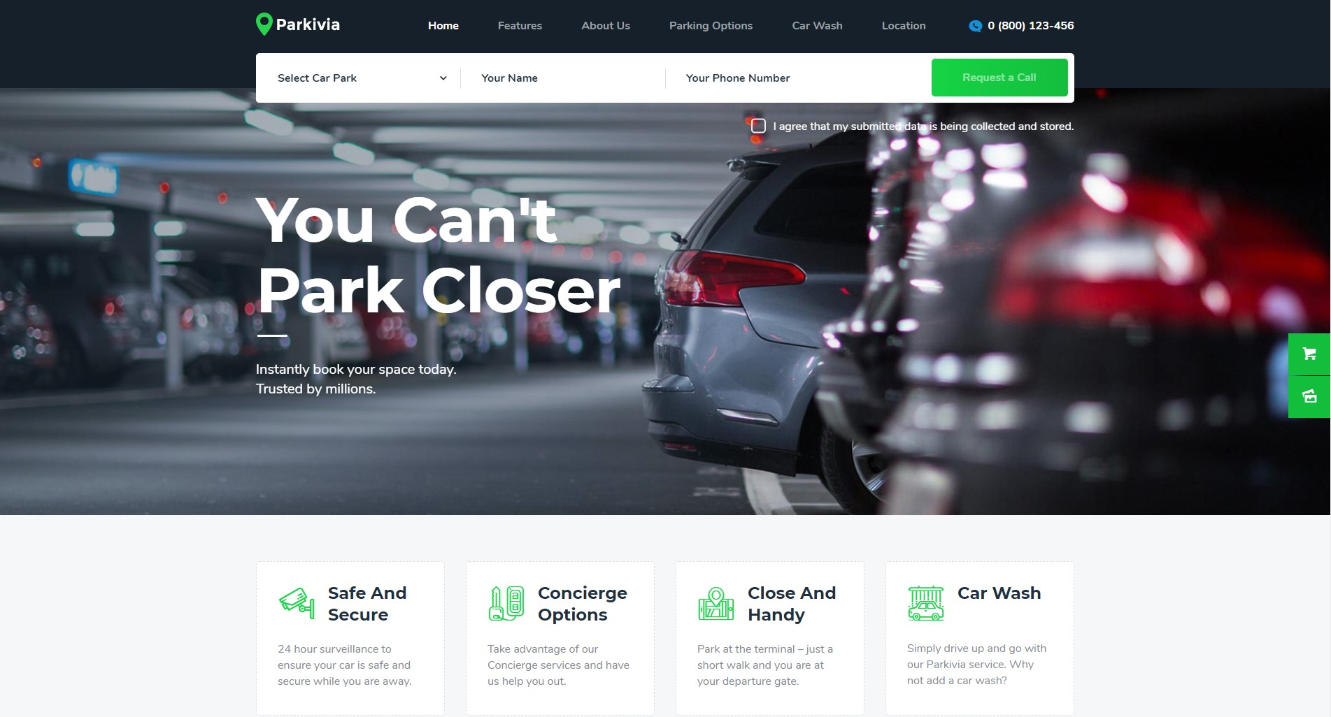 Parkivia | Auto Parking & Car Maintenance WordPress Theme