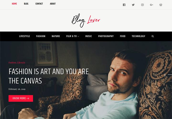 Blog Lover WordPress Theme