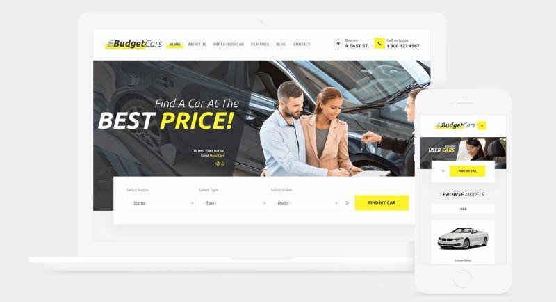 Budget Cars   Used Car Dealer & Store WordPress Theme