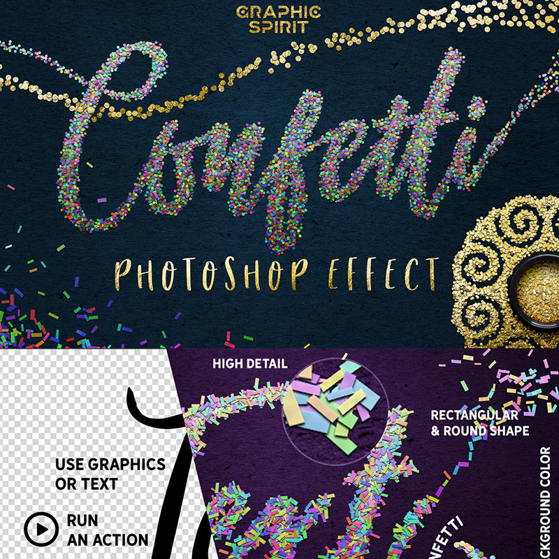 Confetti - Photoshop Effect Toolkit Bundle