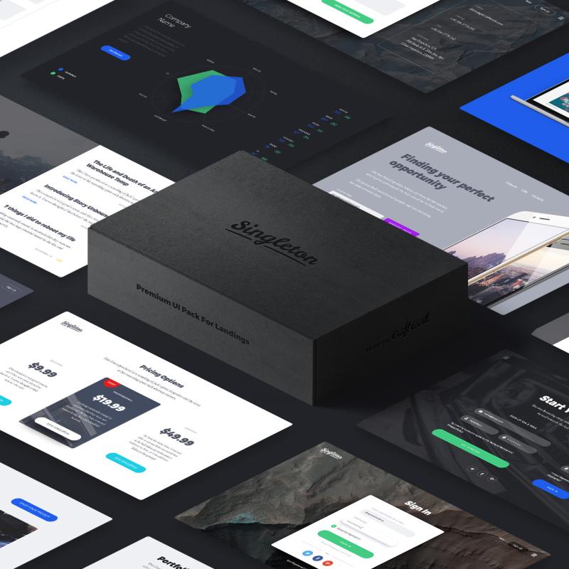 Singleton UI Tool for Photoshop UI Elements
