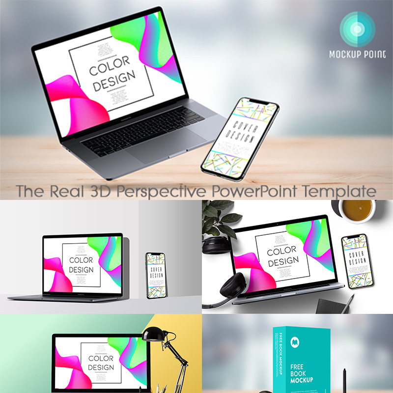 MockupPoint - PowerPoint 3D Perspective App Showcase Product Mockup