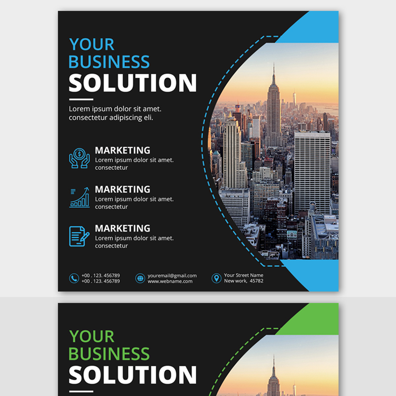 Business Post banner template Social Media
