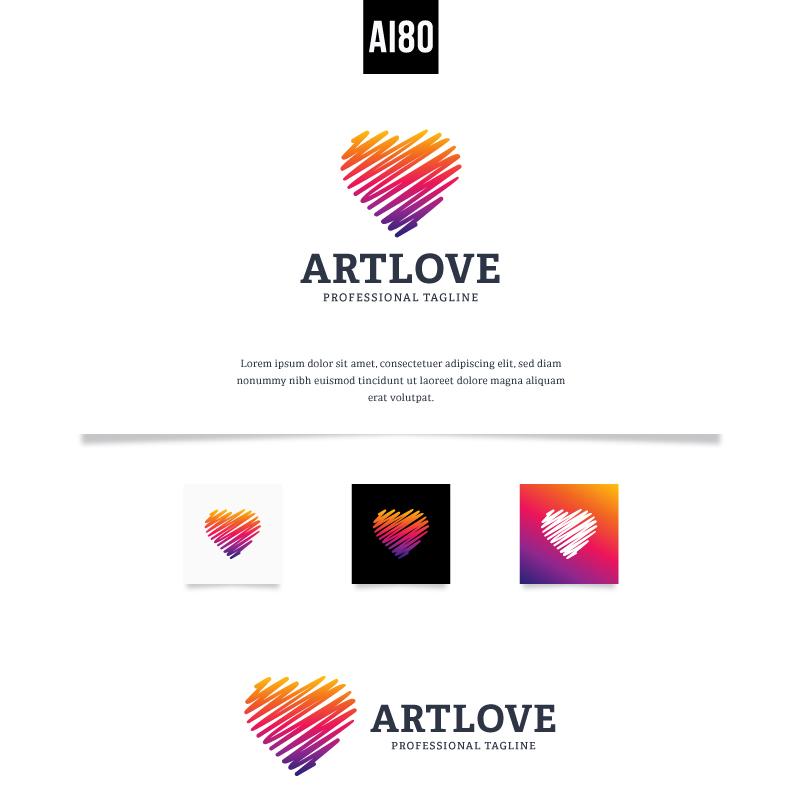 Art Love Logo Template