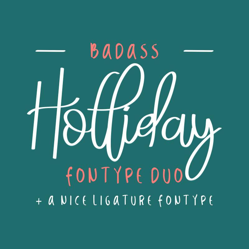 BadassHolliday Font