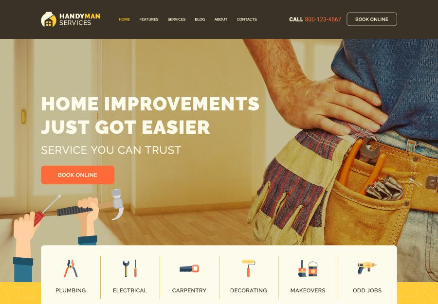 Handyman | Construction and Repair Services WordPress Theme