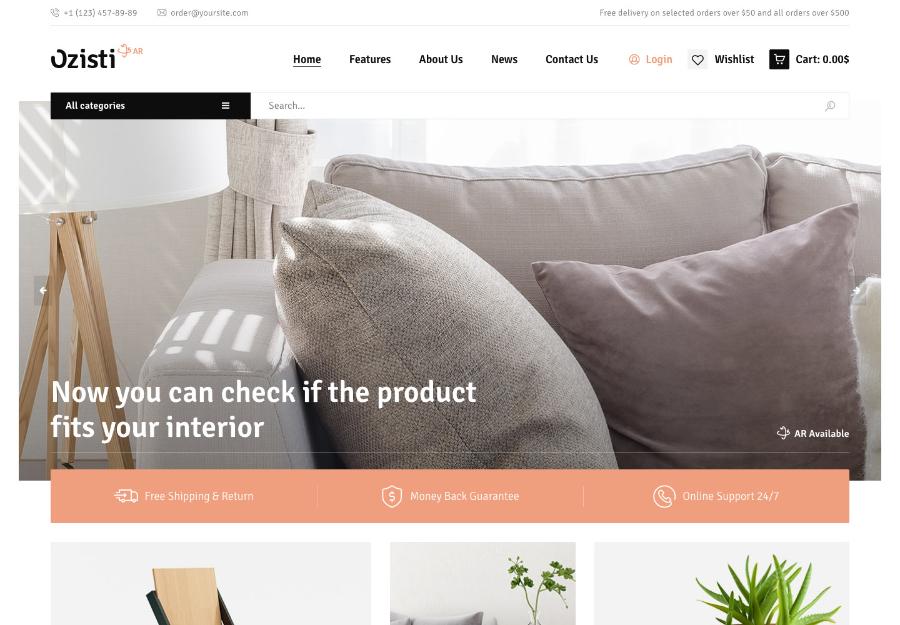Ozisti | A Multi-Concept WooCommerce WordPress Theme Augmented Reality Store Ready