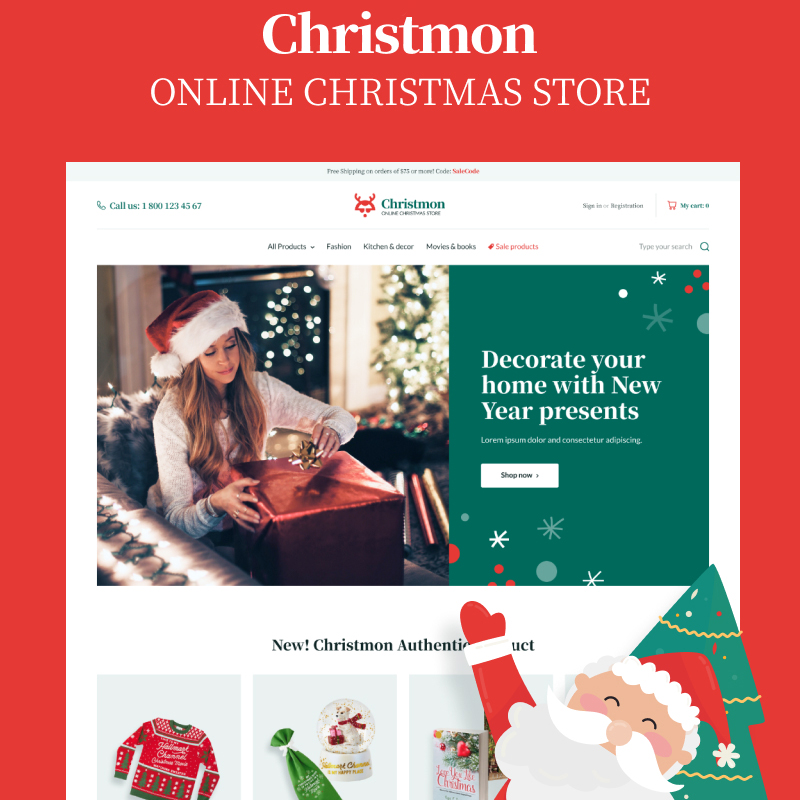 Christmon - Christmas Handicraft eCommerce Website WooCommerce Theme