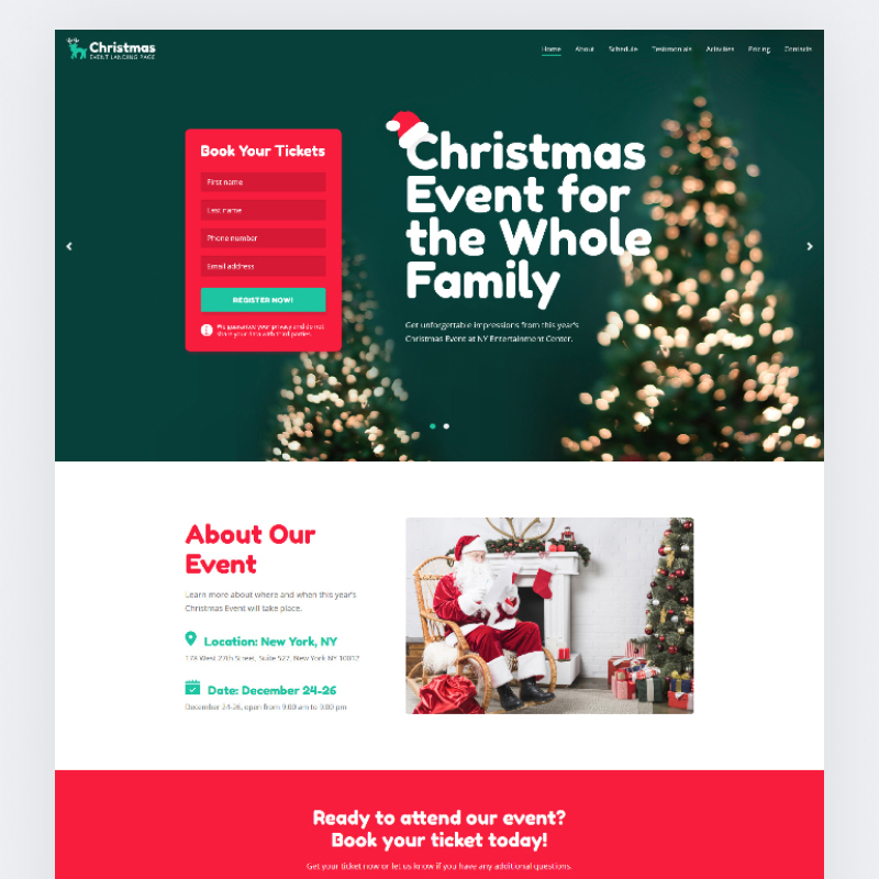 Christmas Event Landing Page HTML Template