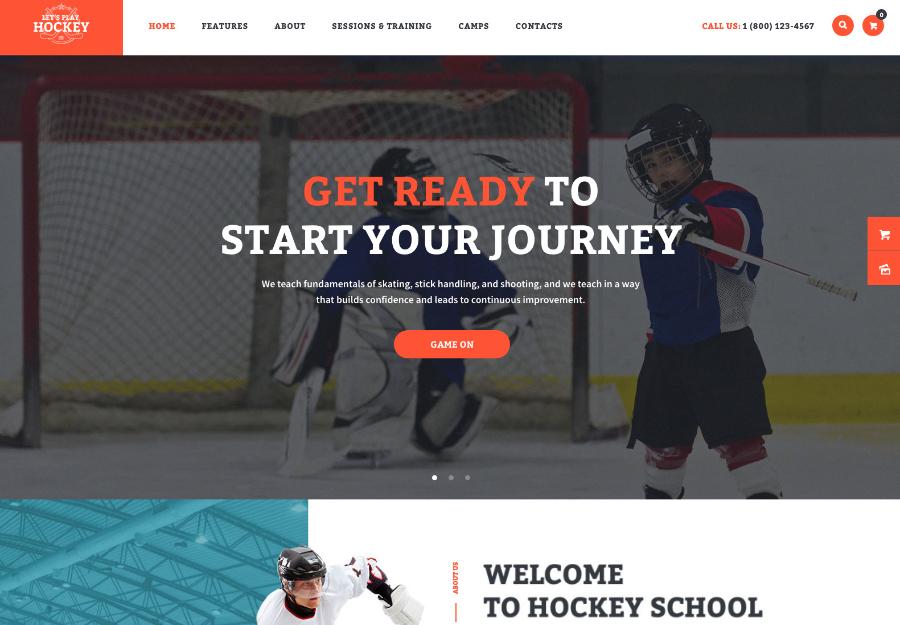 Let's Play | Hockey School & Winter Sports WordPress Theme