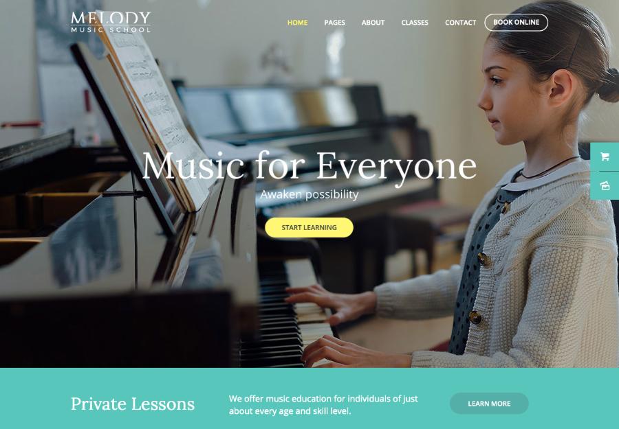Melody - School of Arts & Music School WordPress Theme