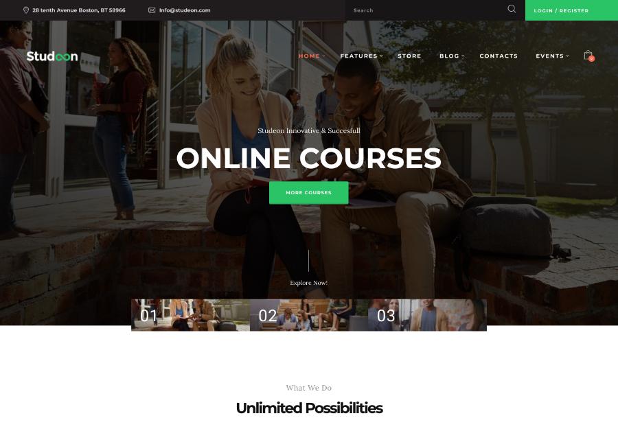 Studeon | An Education Center & Training Courses WordPress Theme