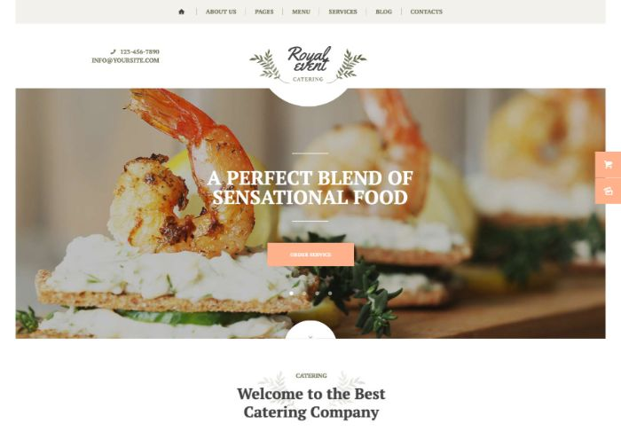 Royal Event | A Wedding Planner & Catering Company WordPress Theme