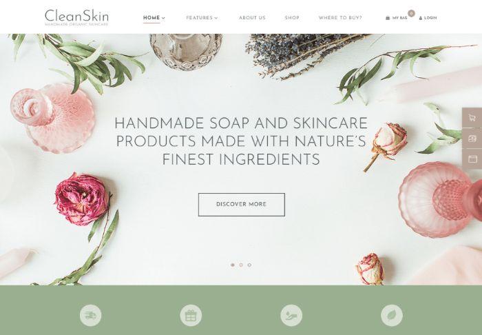 CleanSkin | Handmade Organic Soap & Natural Cosmetics Shop WordPress Theme
