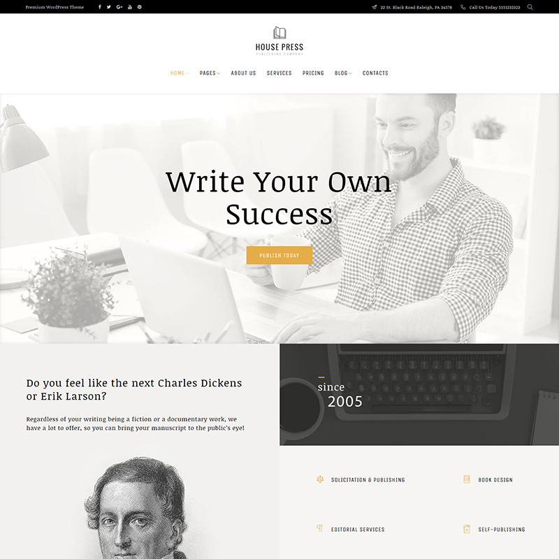 House Press - Publishing Company WordPress Theme