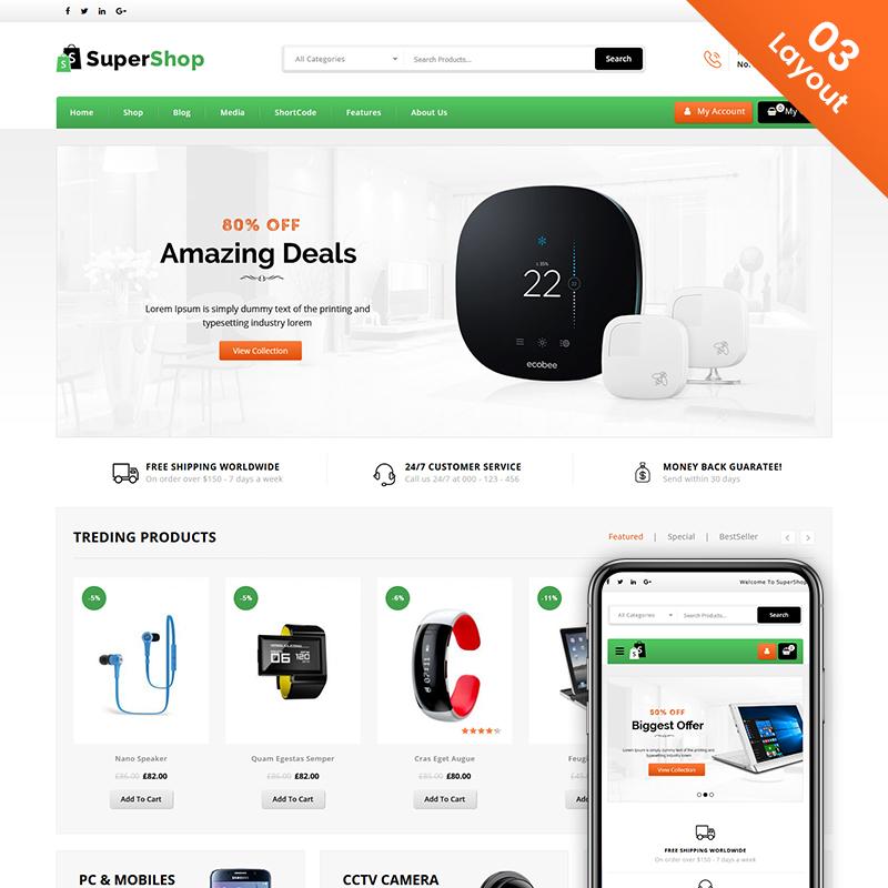 Super Shop - Multi Purpose Store WooCommerce Theme