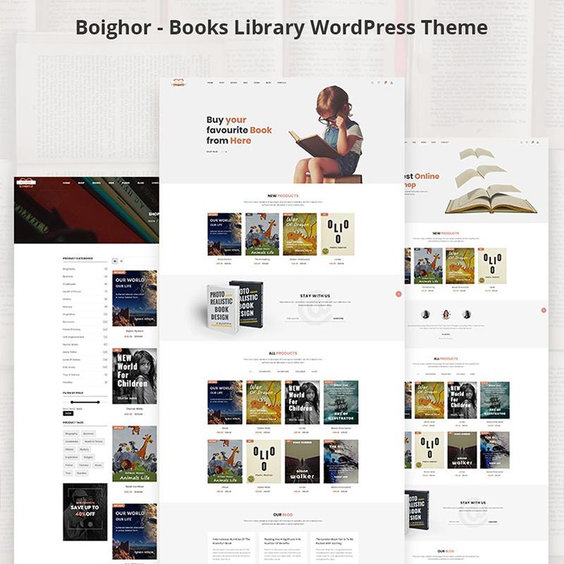 Boighor - Books Library WooCommerce Theme