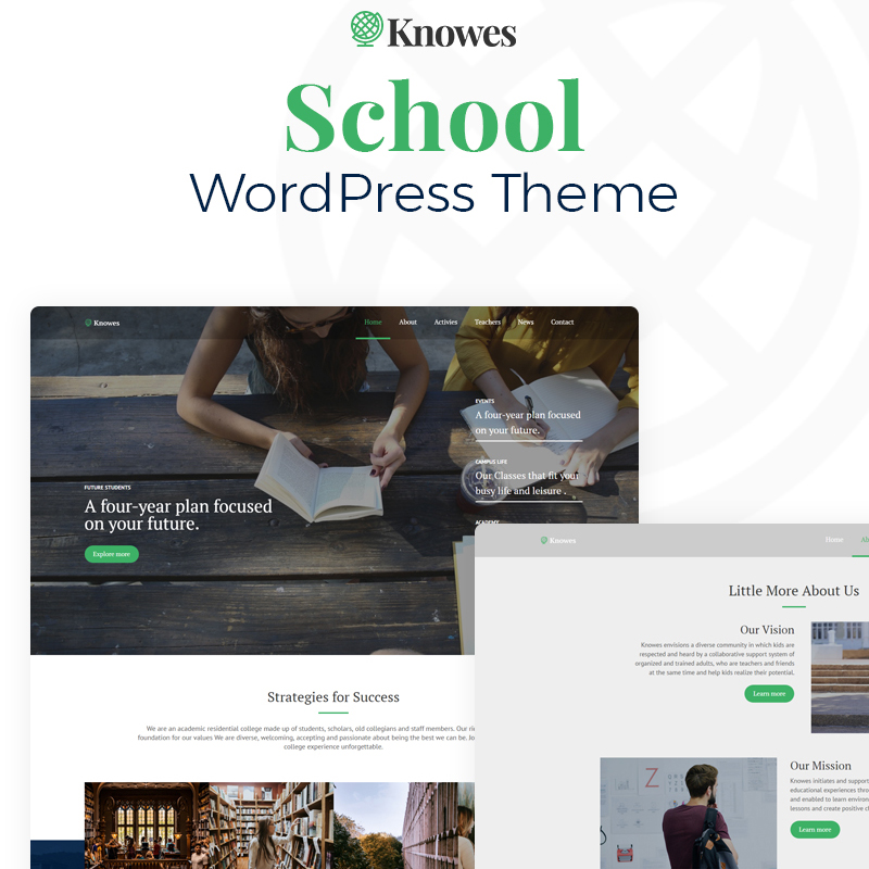 Knowes - Education Multipurpose Modern Elementor WordPress Theme