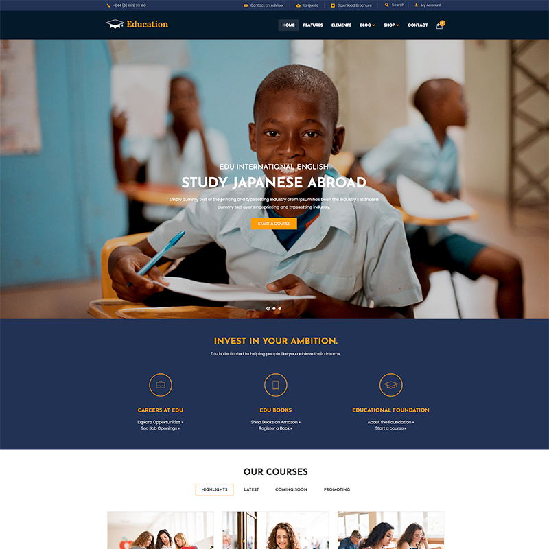 Education - WordPress Theme WordPress Theme