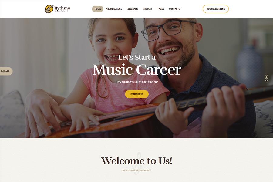 Rythmo | School of Arts & Music School WordPress Theme