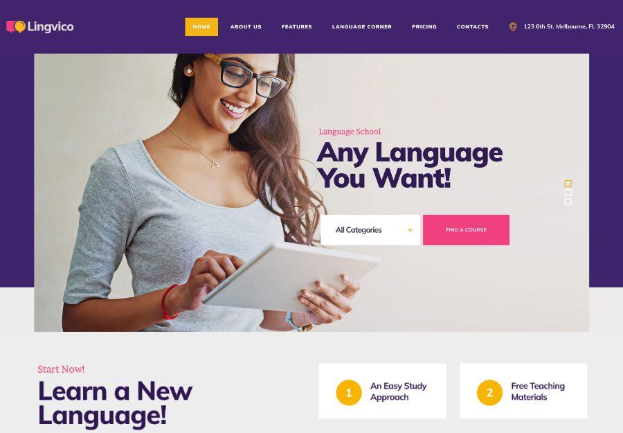Lingvico | Language Center & Training Courses WordPress Theme