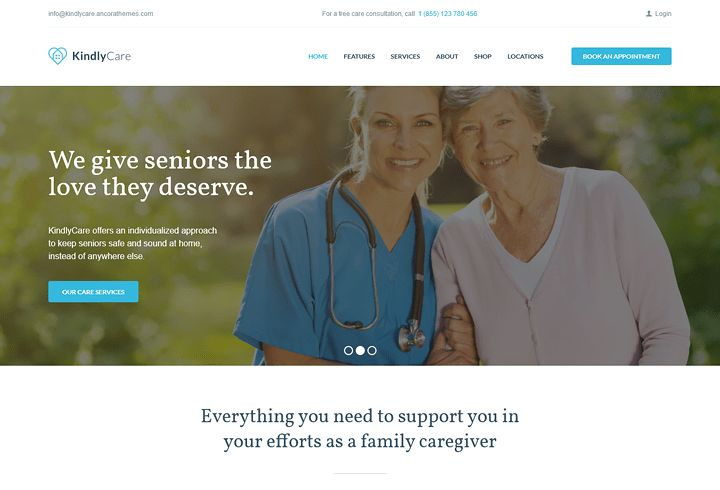 KindlyCare - Senior Care & Medical WordPress Theme