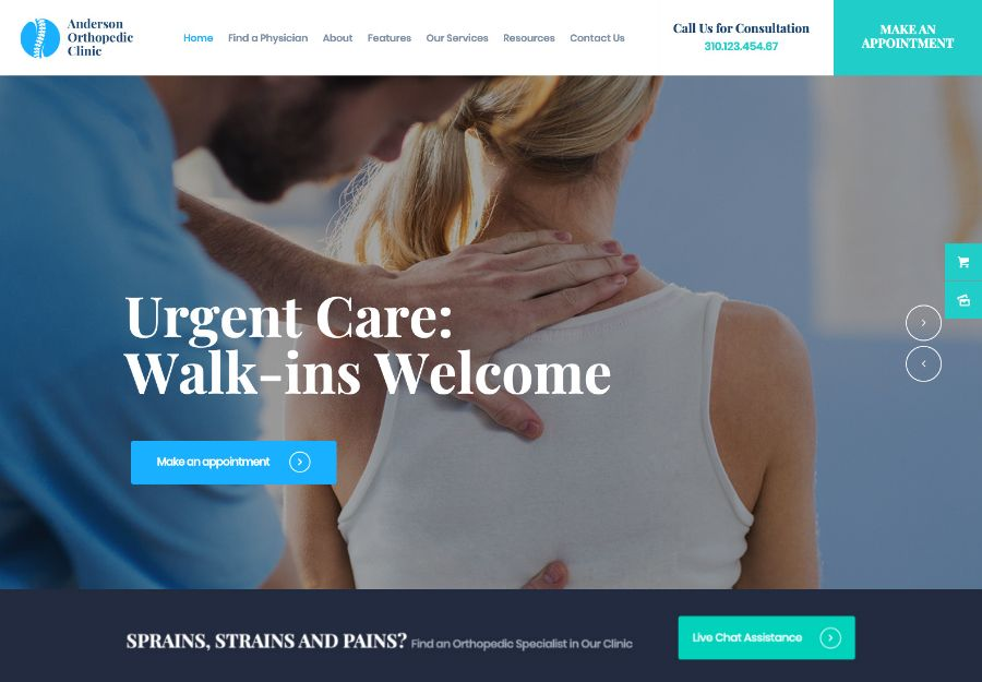 Anderson   Orthopedic Clinic & Medical Center WordPress Theme