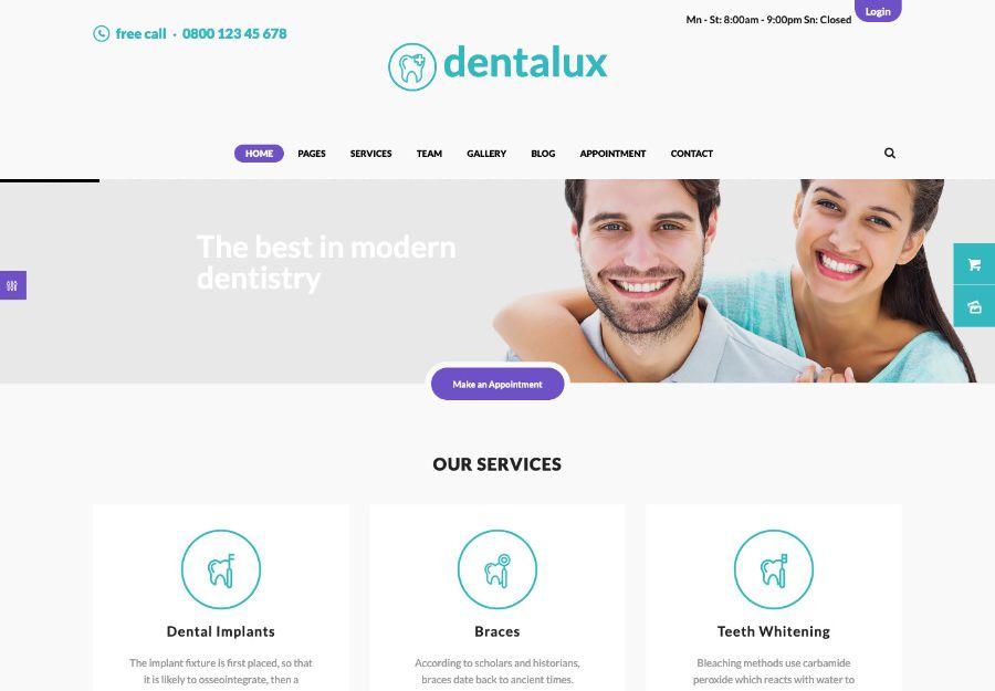 Dentalux   A Dentist Medical & Healthcare Doctor WordPress Theme