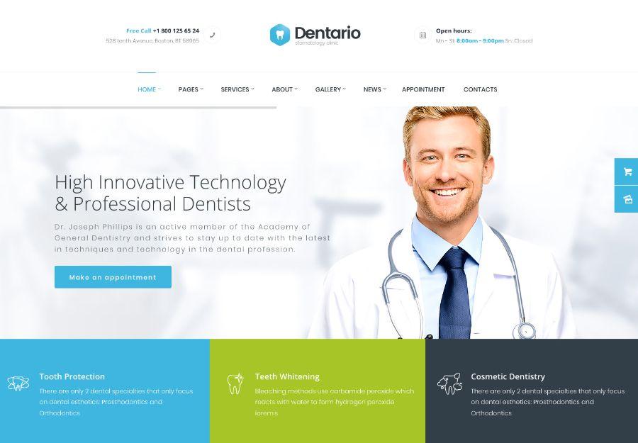 Dentario | Dentist, Medical & Healthcare WordPress Theme + RTL