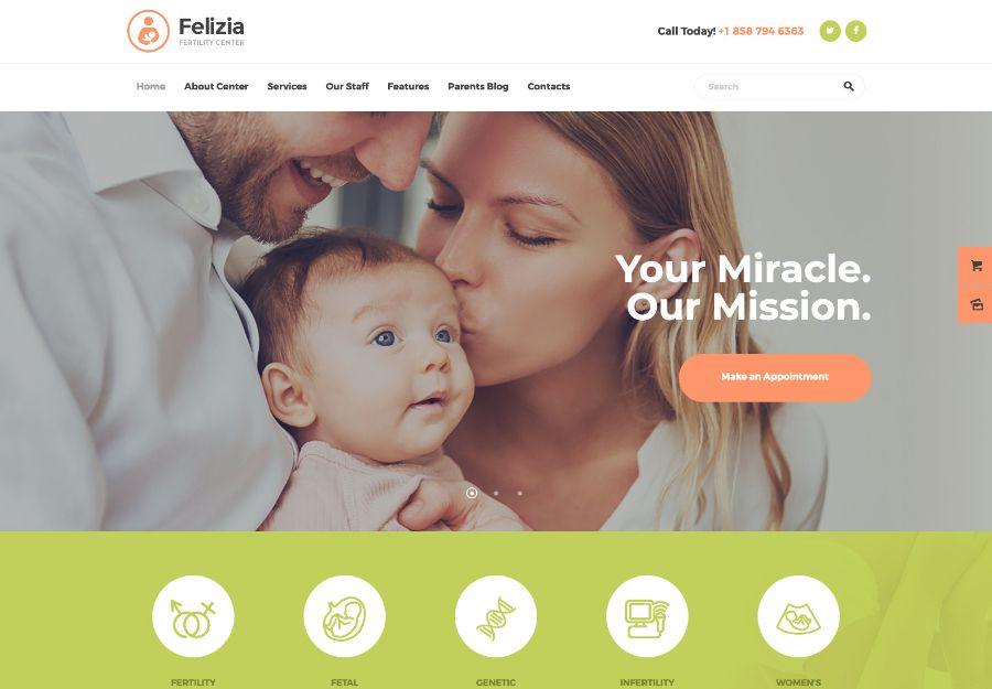 Felizia | Fertility Center & Medical WordPress Theme