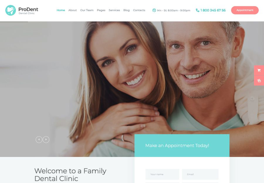 ProDent | Dental Clinic & Healthcare Doctor WordPress Theme