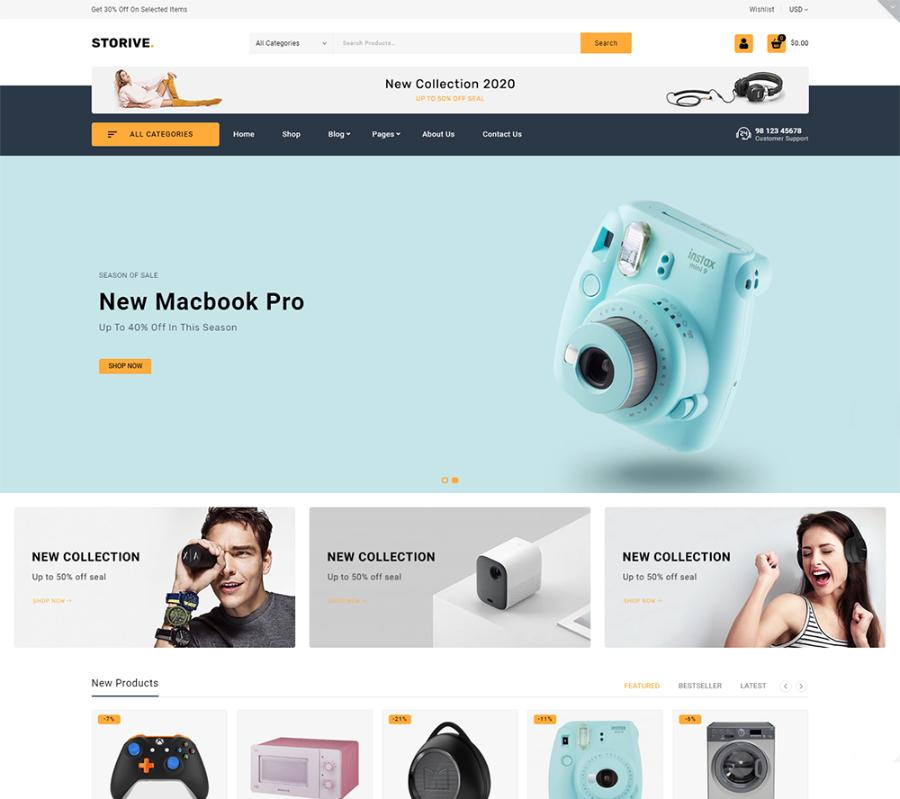 Storive - Online ECommerce Super Market WooCommerce Theme
