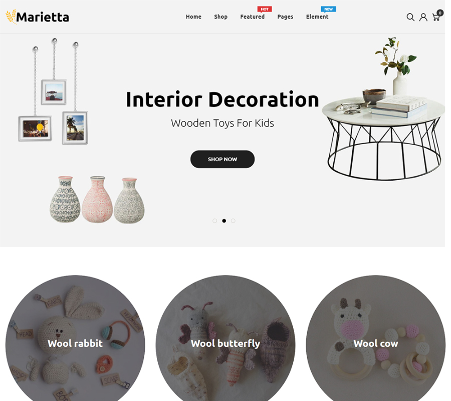 Marietta - Handmade & Crafts Shopify Theme