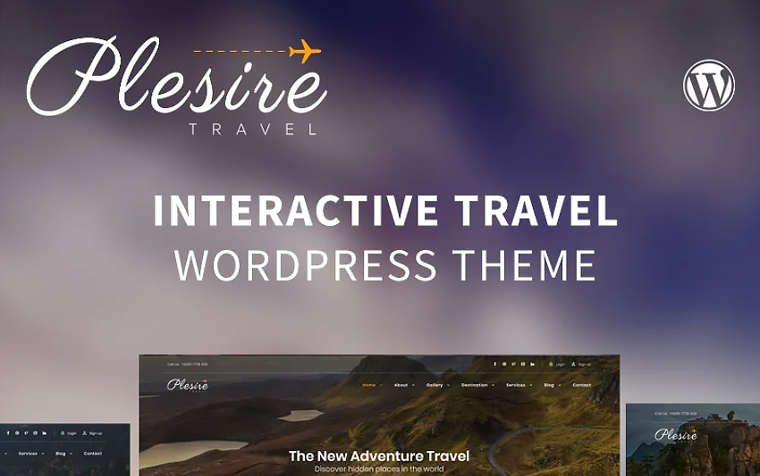 Plesire - Interactive Travel WordPress Theme